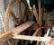 Restauration d'une roue à augets et installation d'un système de production d'électricité - Montage de la structure 10
