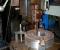 Restauration d'une grande roue à godets en chêne et en acier - Vues atelier mécanique 1