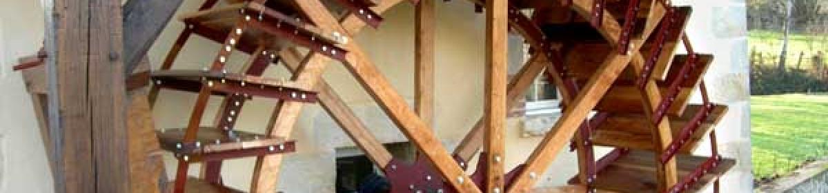 Installation d'une roue de type Sagebien - La roue tourne 5