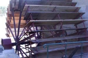 Installation d\'une grande roue de type Sagebien - La roue terminée 4