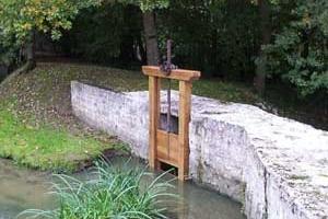 Construction d\'une vanne de décharge 3