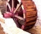 Reconstruction d'une roue à arrivée d'eau au-dessus - La roue est terminée 7