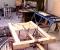Restauration d'une grande roue de poitrine en Normandie - En atelier 9