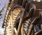 Restauration d'une grande roue de poitrine en Normandie - Montage des aubes 10