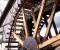 Restauration d'une grande roue de poitrine en Normandie - Montage des aubes 12