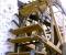 Restauration d'une grande roue de poitrine en Normandie - Montage des aubes 1