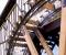 Restauration d'une grande roue de poitrine en Normandie - Montage des aubes 2