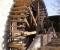Restauration d'une grande roue de poitrine en Normandie - Montage des aubes 4