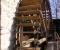 Restauration d'une grande roue de poitrine en Normandie - Montage des aubes 5