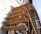 Restauration d'une grande roue de poitrine en Normandie - Montage des aubes 7
