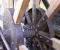 Restauration d'une grande roue de poitrine en Normandie - Montages des bras 8