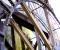 Restauration d'une grande roue de poitrine en Normandie - Montage des coyaux 2