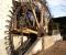 Restauration d'une grande roue de poitrine en Normandie - Montage des coyaux 5
