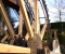 Restauration d'une grande roue de poitrine en Normandie - Montage des coyaux 6