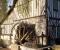 Restauration d'une grande roue de poitrine en Normandie - Montage des coyaux 7