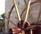 Restauration d'une roue Sagebien - Pose de la structure en bois 8