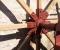 Restauration d'une roue Sagebien - Pose de la structure en bois 9