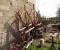 Restauration d'une roue Sagebien - Pose des cintres en acier 1