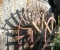 Restauration d'une très belle roue Zuppinger du XIXème - Montage des coyaux et des aubes 3